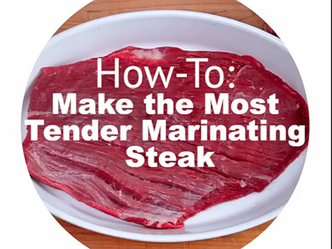 Quick tips: How to make the most tender marinating steak