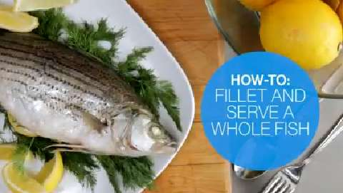 How to fillet and serve a whole cooked fish