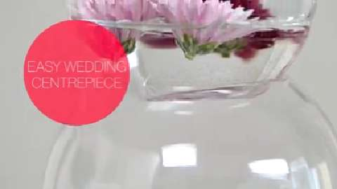 How to make an easy wedding centrepiece