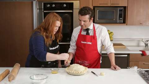 Making pie with Rick Mercer