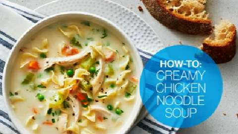 How to make creamy chicken noodle soup