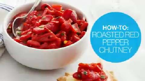 How to make roasted red pepper chutney