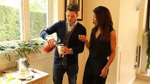 Making a festive Caesar with Michael Buble