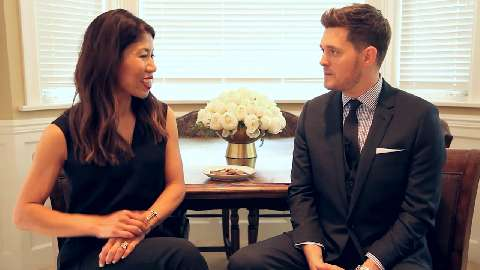 Talking with Michael Buble about the holidays