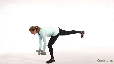 One-legged deadlift: The best exercise for balance and toning