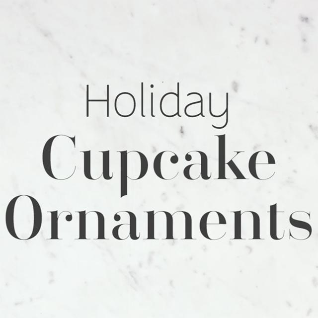 Christmas Craft: DIY Cupcake Ornaments