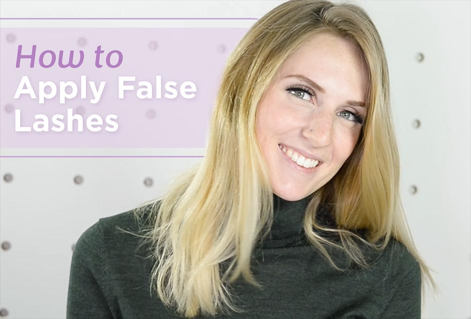 How to apply false eyelashes like a pro