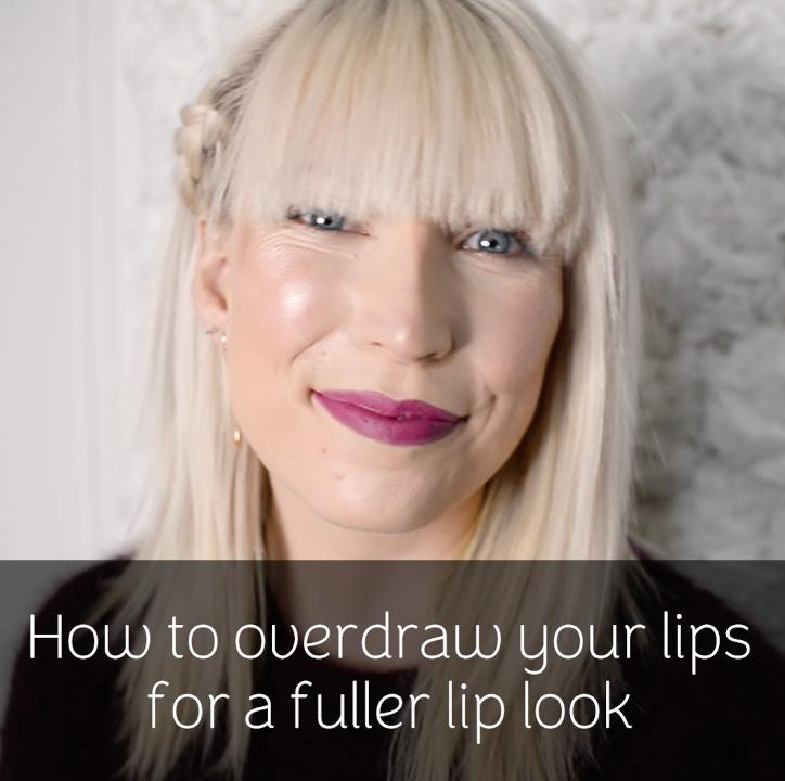 How to overdraw your lips for a fuller look
