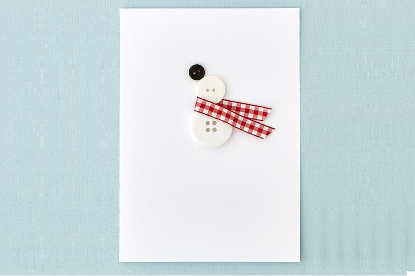 DIY Button Snowman Card