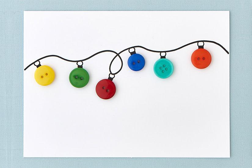 DIY Button String Light Card