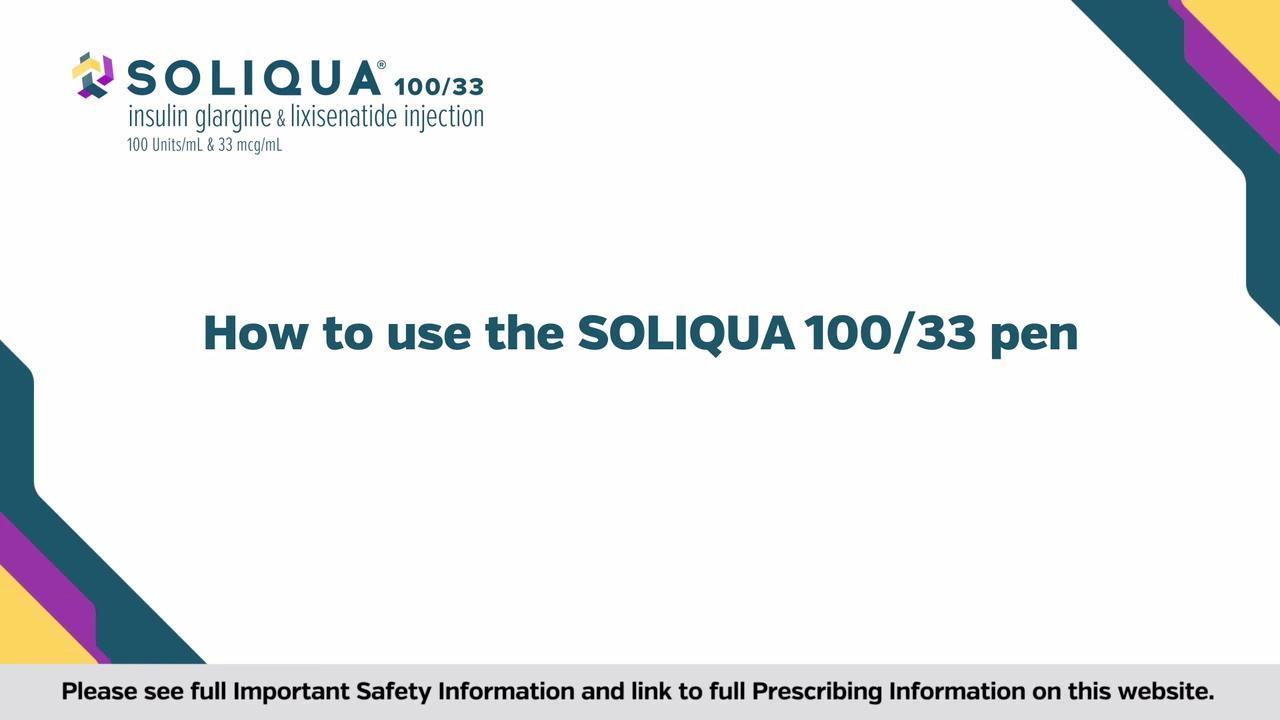 How To Inject Soliqua 100 33 Insulin Glargine Lixisenatide