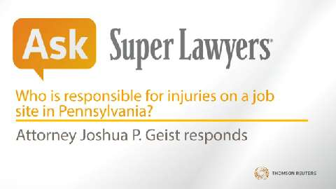 Joshua Geist, Pittsburgh Job Injury Attorney- Super Lawyers