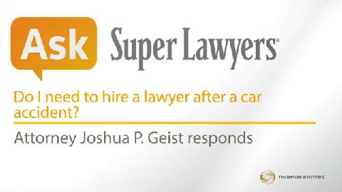 Joshua Geist, Pittsburgh Car Crash Attorney- Super Lawyers