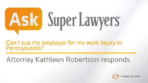 Can I sue my employer for my work injury in Pennsylvania?