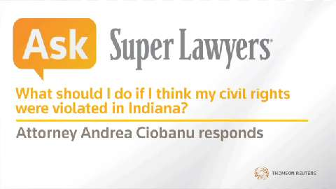Andrea Ciobanu, Indiana Civil Rights Attorney- Super Lawyers