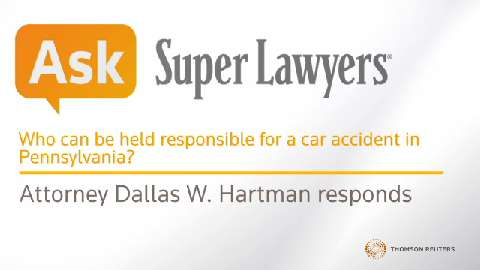 Who Can Be Held Responsible For A Car Accident