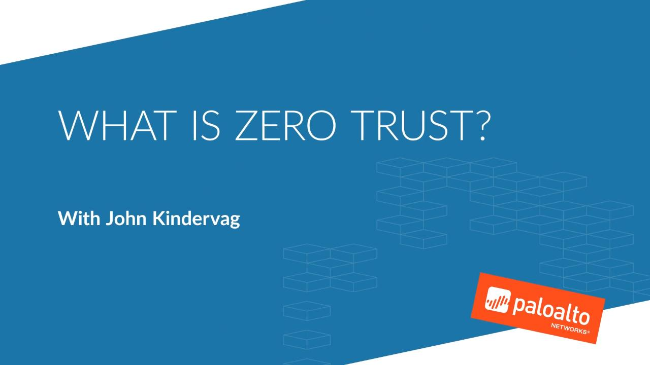 What is a Zero Trust Architecture? - Palo Alto Networks