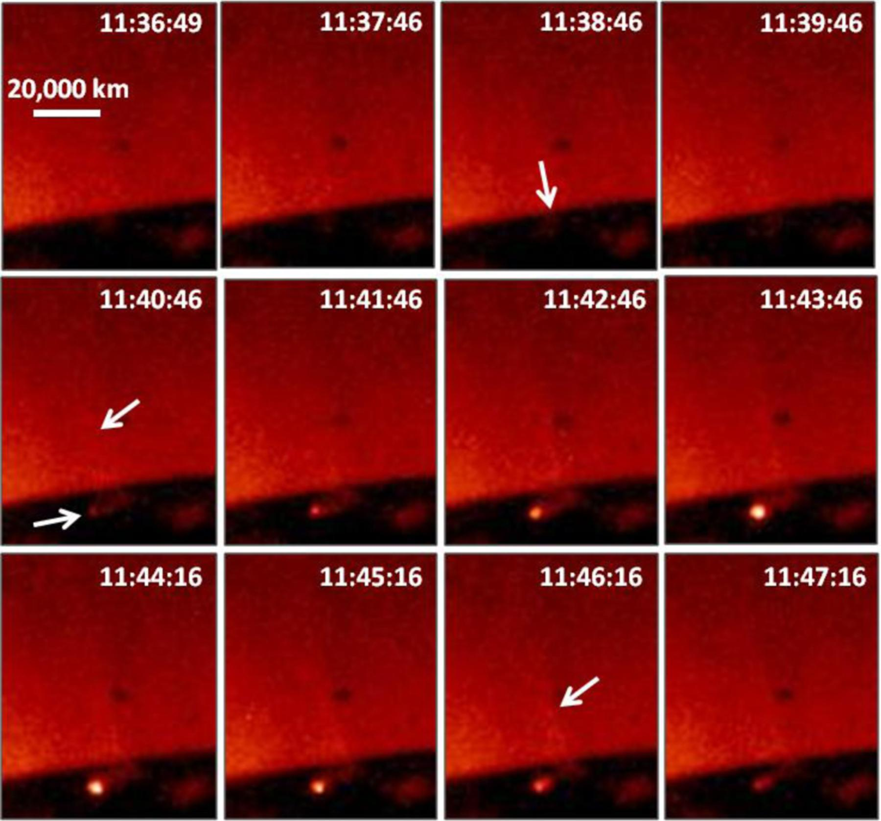 Onset of the Magnetic Explosion in Solar Polar Coronal X-Ray Jets