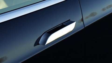 & Tesla Model S door handle