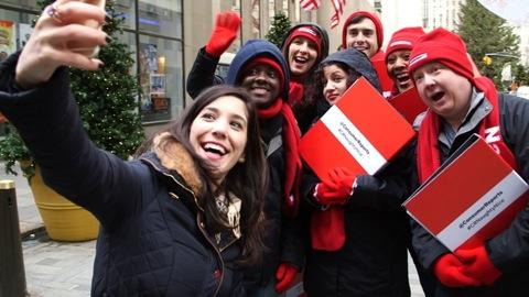 Consumer Reports Carolers Hit the Streets