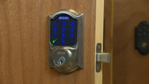 Home automation via your smart phone & Schlage touch-screen door lock