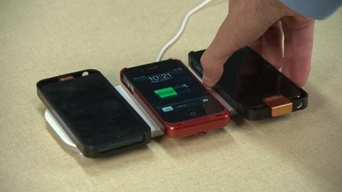Cell phone charging mats