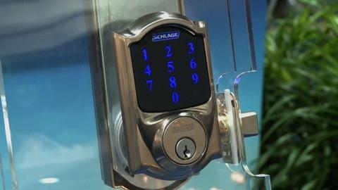 Schlage touch-screen door lock & Home automation via your smart phone