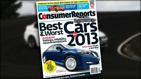 Consumer Reports' 2013 Top Pick cars