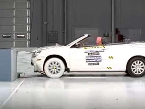 Chrysler 200 Convertible crash test 2011