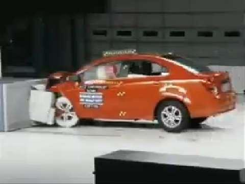 Chevrolet Sonic crash test 2012