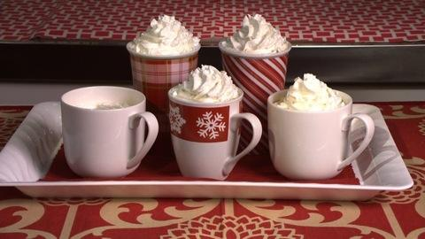 Calorie-conscious holiday drinks
