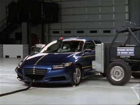 Honda CR-Z crash test 2012