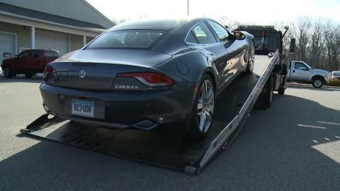 $107,850 Fisker Karma breaks down