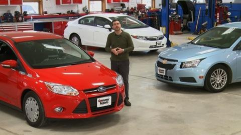 Chevrolet Cruze Eco, Ford Focus SFE & Honda Civic HF