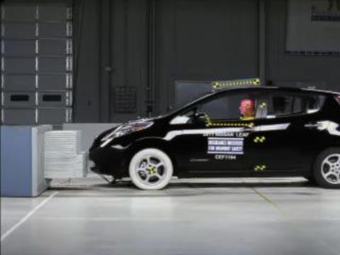 Nissan Leaf crash test 2011-2012