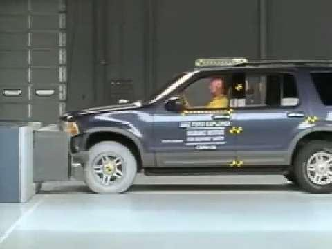 Lincoln Aviator crash test 2003-2005