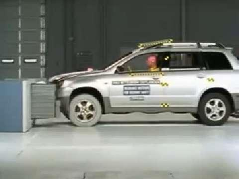 Mitsubishi Outlander crash test 2003-2006