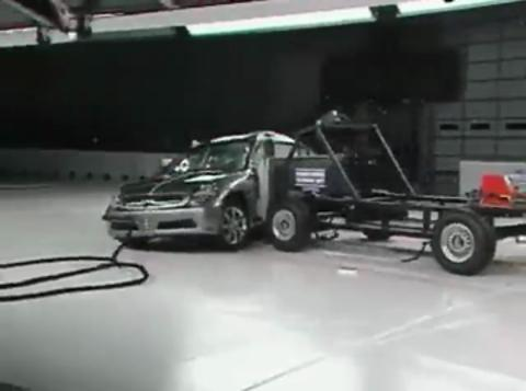 Infiniti G35 crash test 2003-2006
