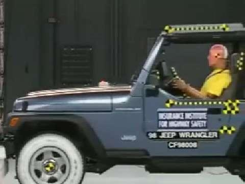 Jeep Wrangler (2-door) crash test 1997-2006