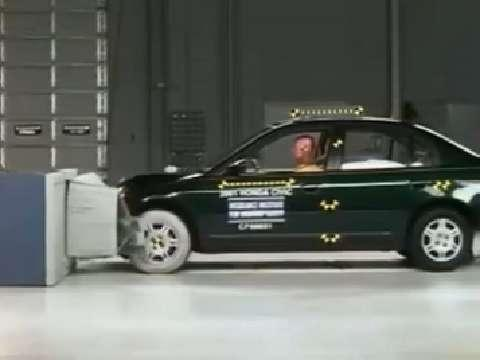 Honda Civic crash test 2001-2005