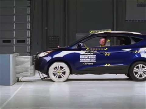 Hyundai Tucson crash test 2010-2011