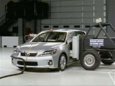Lexus CT 200h crash test 2011-2012