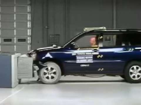 Toyota Highlander crash test 2001-2007