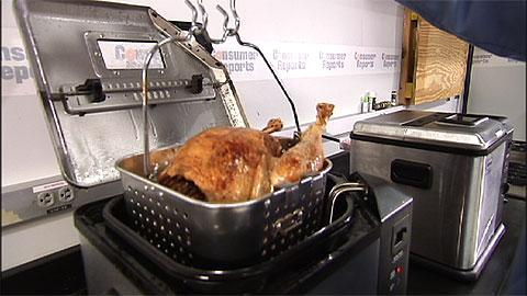 Safer turkey frying