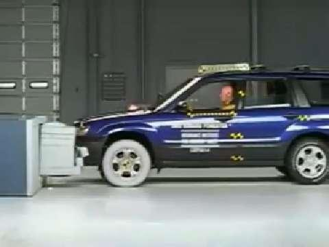 Subaru Forester crash test 2003-2008