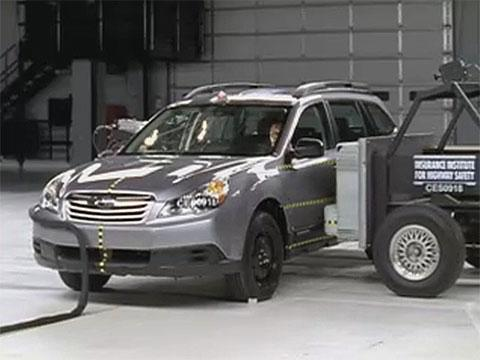 Subaru Outback crash test 2010-2012