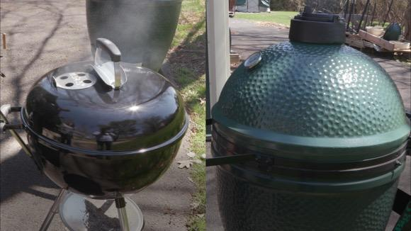 Charcoal Face-Off: Weber Kettle vs. Big Green Egg