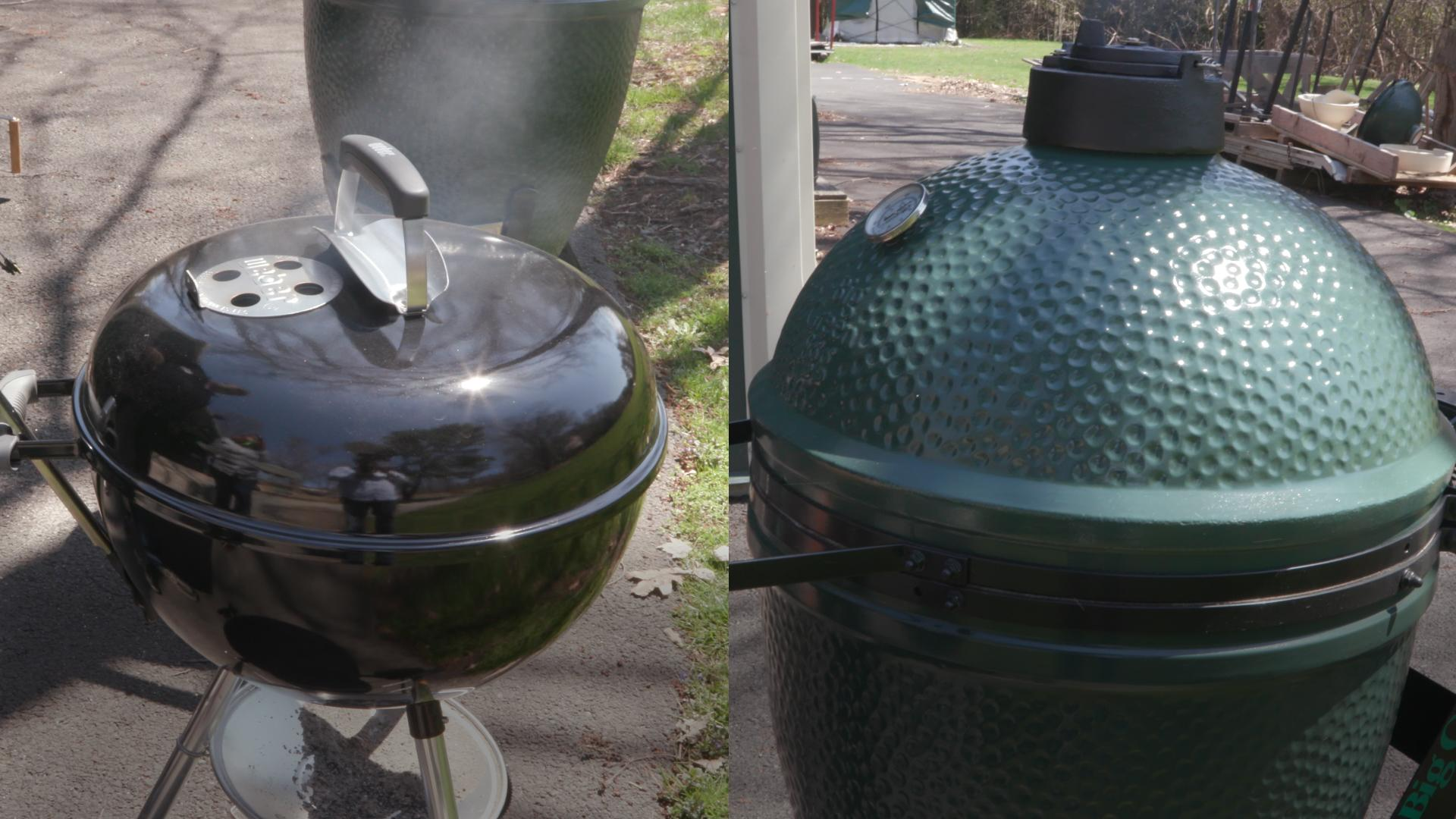 Charcoal Grill Weber Kettle Vs Big Green Egg Consumer