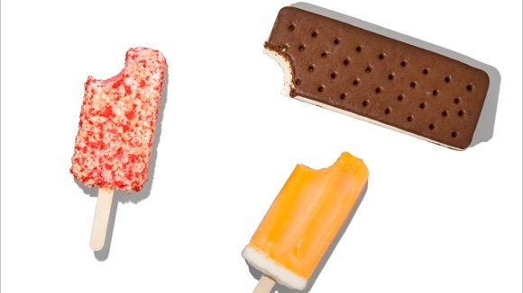 What 100 Calories of Frozen Treats Look Like