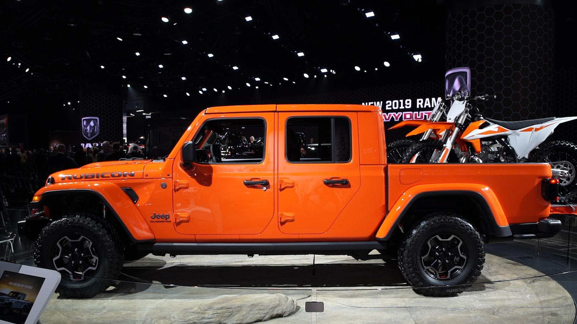 Image result for 2020 jeep gladiator reveal at new york auto show 2019